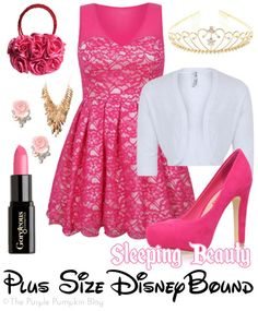 Sleeping Beauty - Plus-Size DisneyBound - great for a party or night out! Princess Inspired Outfits, Disney Princess Outfits, Disney Inspired Fashion, Disney Bound Outfits, Disney Dresses, Really Cute Outfits, Beautiful Outfits, Fandom Fashion, Geek Fashion