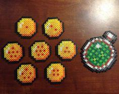 Artículos similares a Dragonball Z Dragon Balls and Dragon Radar Perler Sprites en Etsy
