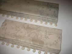 Roman Blinds in Kate Forman Blue Roses and Sage Roses fabrics