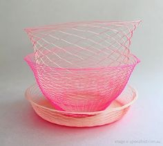 Neon woven baskets