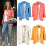 Celebrity Womens Candy Colors Seventh Volume Sleeve Suit Jacket Blazer 5 Colors Candy Colors, Blazer Jacket, Celebrity, Suits, Sleeves, Jackets, Women, Down Jackets, Women's