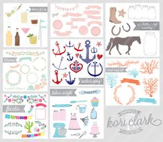 Graphics for Bloggers, Stationery Designers, Crafters, Photographers, etc!