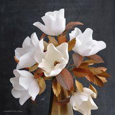 Crepe Paper Magnolia Bouquet - Lia Griffith