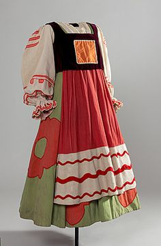 Costume for a female subject of King Dodon from The Golden Cockrel 1937 performed by Ballet Russe.