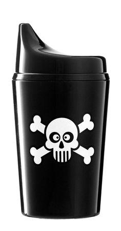 Elodie Details Sippy Cup - Black Skulls  ***Loooooooove :)