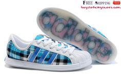 Adidas Superstar Shoes Womens Fashion Sneakers Plaid