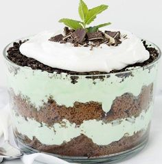 This lovely layered mint-chocolate dessert only requires 25 minutes of prep time. Crème-de-menthe-marshmallow filling adds an unexpected twist—and extra sweetness. The best part? You can make it up to one day ahead (if you don't devour it first, of course).