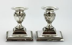 Currently at the #Catawiki auctions: Asprey & Co - Pair of Silver Candlesticks, Made in Sheffield 1913