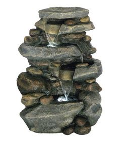 Look what I found on #zulily! Pure Garden Stone Waterfall Fountain #zulilyfinds
