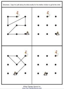 Copying grid designs is a good way to promote visual motor integration because it allows children to develop motor accuracy.