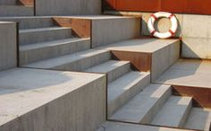 Odense Havn - Schønherr Wood Steps, Exterior Stairs, Odense, Street Furniture, Outdoor Furniture, Outdoor Decor, Facade, Shelves, Urban