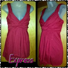 EXPRESS RED TOP excellent condition  Scrunch like chest fits like a large to x-large Express Tops