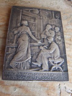 Art Nouveau Bronze Plaque by A.Patey by VintageRetroOddities