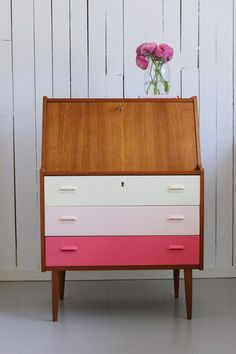 Why not try this yourself - ombre diy painted drawers - modern furniture - Painted furniture, by MøbelPøbel