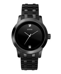 GUESS Watch, Men's Black Ion Plated Stainless Steel Bracelet 38mm U12604G1 - Men's Watches - Jewelry & Watches - Macy's