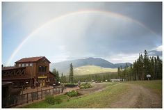 Rainbow on wedding day at Ten Mile Station in Breckenridge Colorado
