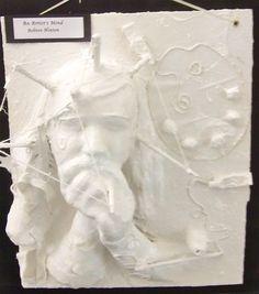 "Plaster craft self portrait ""The Artist's Mind"""