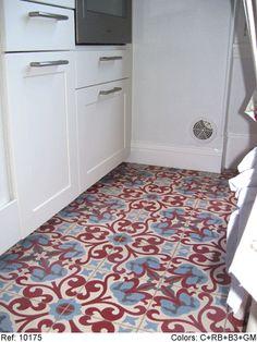 encaustic cement tiles bathroom or laundry room