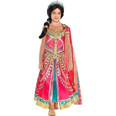 Party City Aladdin Pink Jasmine Costume for Children, Includes a Fancy Pink Dress with a Matching Shawl Jasmine Halloween Costume, Aladdin Halloween, Aladdin Party, Aladdin Costume, Aladdin Birthday Party, Halloween Costumes For Kids, Pocahontas Costume, Couple Halloween, Halloween Shoes