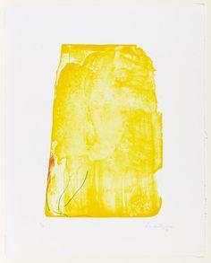 I Need Yellow Helen Frankenthaler (American, 1928–2011)  1973. Lithograph, composition (irreg.): 16 15/16 x 11 1/2 (43 x 29.2 cm); sheet: 24 5/8 x 19 9/16 (62.6 x 49.7 cm). Gift of Celeste Bartos. © 2013 Helen Frankenthaler / Artists Rights Society (ARS), New York