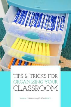 Visit Core Inspiration by Laura Santos for tips and tricks to get organized so your classroom becomes a haven for self-directed learning and differentiation.