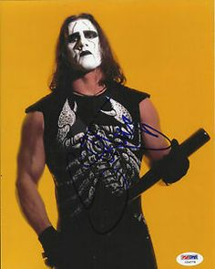 "the icon sting | Steve Borden ""Sting"" Autographed Signed WCW WWE Wrestling PSA DNA 8x10 ..."