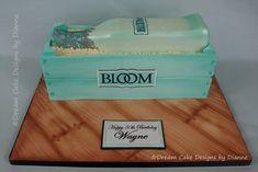 Happy birthday to Wayne 🎂 Novelty Birthday Cakes, Novelty Cakes, Bloom Gin, Happy 50th Birthday, Gin Bottles, Poke Cakes, Dream Cake, Unique Cakes, Centre Pieces
