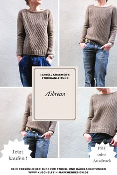 Knitting instructions Aibrean by Isabell Kraemer Knitting instructions Aibrean by Isabell Kraemer / Aibrean is a wonderful sweater with a simple pattern that gives a nic. Knitting Websites, Knitting Blogs, Baby Knitting, How To Start Knitting, How To Purl Knit, Knitting For Beginners, Easy Blanket Knitting Patterns, Knit Patterns, Dog Pattern