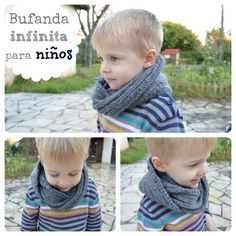Bufanda infinita para niños | Elenarte Baby Knitting, Crochet Projects, Free Crochet, Free Pattern, Crochet Necklace, Children, Diy, Buenas Ideas, Google