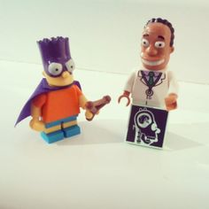 #Simpsons #Lego #MiniFigures #Series2 #DrHibbert #Bart #Simpson #Bartman #Brick #Photography