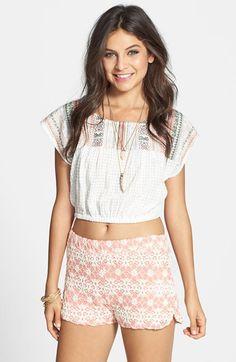 E&M Crochet Shorts (Juniors) available at #Nordstrom