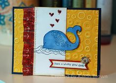 card by Aaron Brown using CTMH Tommy paper Animal Cards, Surfs Up, Heart Art, Close To My Heart, Homemade Cards, Over The Years, Stampin Up, Card Ideas, Card Making