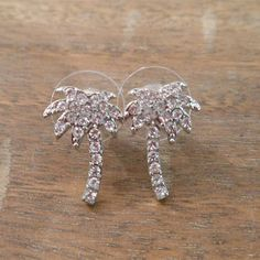 Rhinestone Palm Tree Earrings | Candy's Cottage