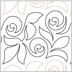 Rose Garden - Pantograph Quilting Stencils, Quilting Templates, Longarm Quilting, Free Motion Quilting, Machine Quilting, Quilting Designs, Quilt Patterns, Machine Embroidery, Quilting Ideas