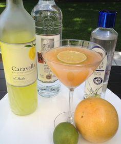 Grapefruit Martini (1 1/2 oz. Vodka 1/2 oz. Limoncello 2 oz. pink grapefruit juice 1/2 oz. lime juice)