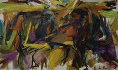 Elaine de Kooning, Bullfight, 1959, oil on canvas. COURTESY MARK BORGHI FINE ART, NEW YORK/©ELAINE DE KOONING TRUST