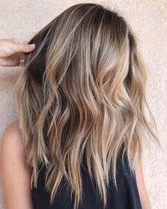 67 Gorgeous Balayage Hair Color Ideas - Best Balayage Highlights We all know sty., 67 Gorgeous Balayage Hair Color Ideas - Best Balayage Highlights We all know styles and fashion change with time and the seasons. What worked in cloth. Brown To Blonde Balayage, Hair Color Balayage, Brunette Blonde Highlights, Bronde Balayage, Blonde Balayage Highlights On Dark Hair, Balayage Hairstyle, Balayage Long Bob, Blonde Highlights On Dark Hair All Over, Babylights Blonde