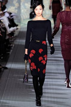 Opaque tights. Tory Burch Fall 2012