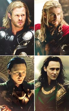 Thor & Loki. Thor and Thor: The Dark World. Haircuts aren't really a thing in Asgard.