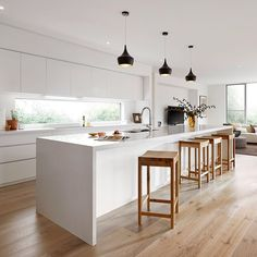 "Nice Scandinavian Kitchen Design Interior of the All White and Beautiful Tiny Ki. Nice Scandinavian Kitchen Design Interior of the All White and Beautiful Tiny Kitchen : ""The scan Home Decor Kitchen, Kitchen Living, Kitchen Furniture, Home Kitchens, Modern Kitchens, Kitchen Paint, Kitchen Colors, Kitchen Flooring, Kitchen Backsplash"