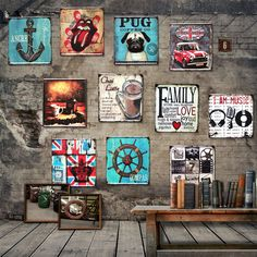 Loft American Retro Bar Decoration Iron Punk ACTS The Role of Metope Adornment Frameless Painting Murals - ICON2 Luxury Designer Fixures  Loft #American #Retro #Bar #Decoration #Iron #Punk #ACTS #The #Role #of #Metope #Adornment #Frameless #Painting #Murals