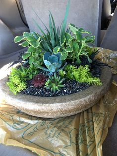 My work~ stone table centerpiece.