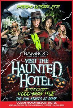 Tonight's Halloween Party at Bamboo Beach.