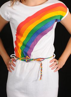 rainbow shirts... I LOVED mine. I took a school pic in it! I was rockin rainbows waaay before Rainbow Brite lol