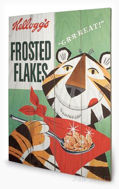 Vintage Kelloggs - Frosted Flakes Wood Sign Wood Sign - AllPosters.co.uk