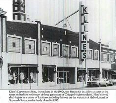 Kline's Chicago Heights, Illinois Chicago Heights, Old Gas Stations, My Kind Of Town, Down South, Illinois, In The Heights, Free Genealogy, Genealogy Search, History