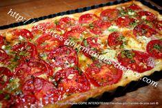Tarte à la tomate et au reblochon, persillée