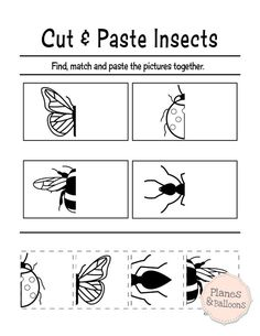 printable cut and paste worksheets for preschool Cut and paste activities for preschoolers - fine motor worksheets for preschool kids.Cut and paste activities for preschoolers - fine motor worksheets for preschool kids. Preschool Projects, Free Preschool, Preschool Printables, Preschool Lessons, Preschool Worksheets, Preschool Learning, Preschool Activities, Printable Worksheets, Free Printable