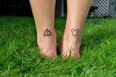 mickey mouse tattoo deathly hallows tattoo - Google Search