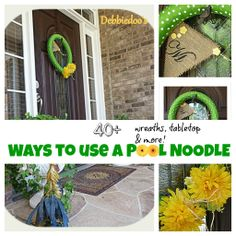40+ ways to use a #pool #noodle. #Wreaths, #tabletop decor, and more!